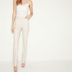 EXPRESS BARELY BOOT COLUMNIST IVORY CREAM PANT 4R